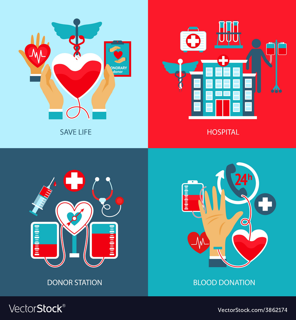 Donor concept set vector | Price: 1 Credit (USD $1)