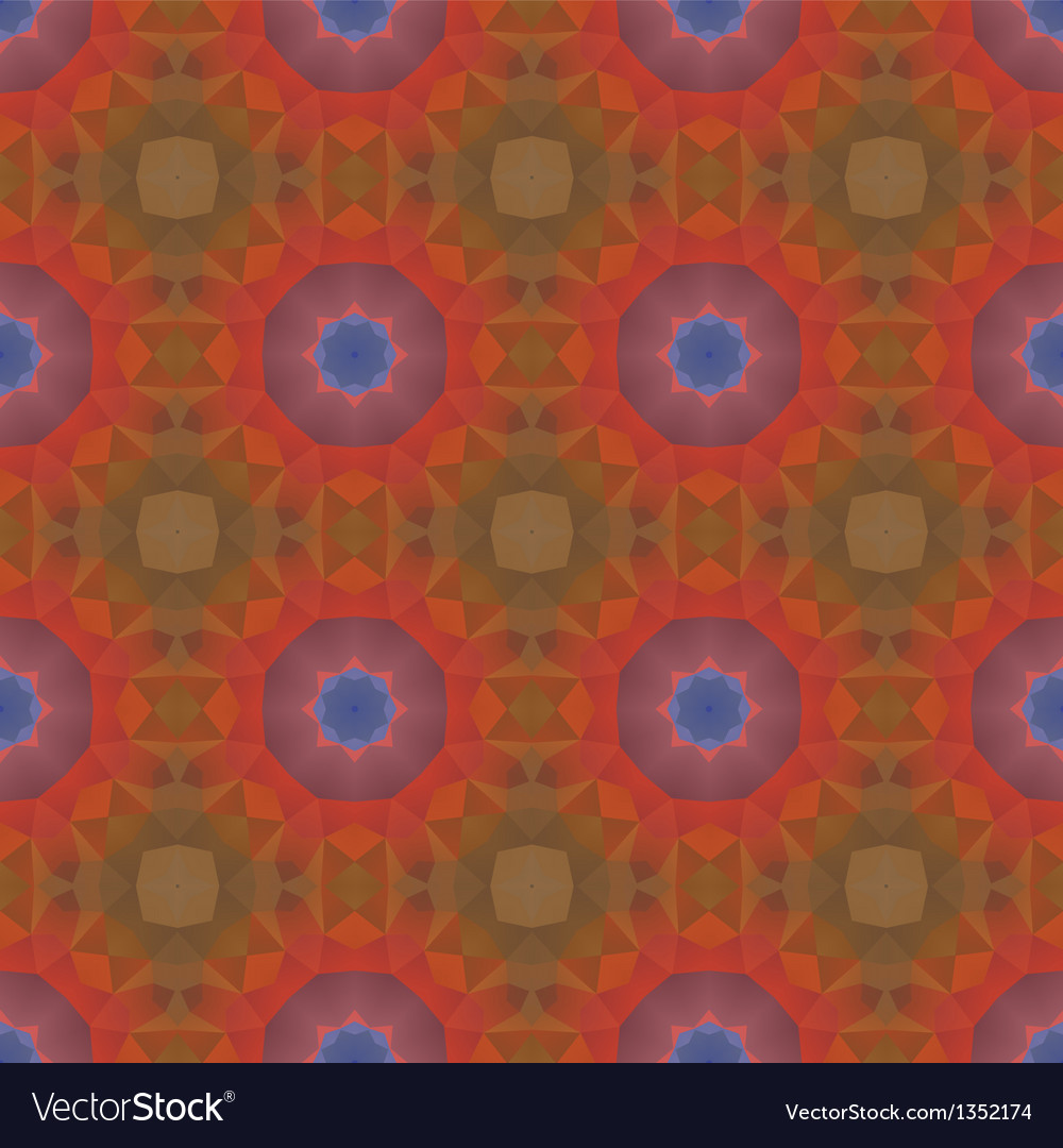 Kaleidoscope abstract colorful vintage pattern vector | Price: 1 Credit (USD $1)