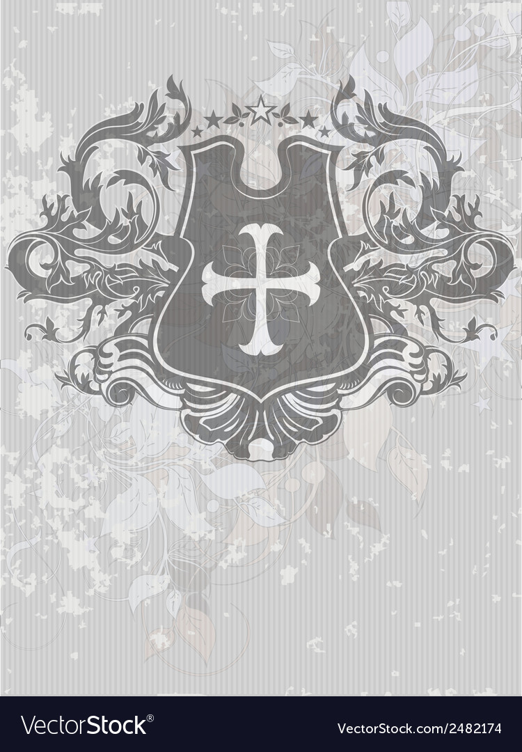 Ornamental heraldic shield vector | Price: 1 Credit (USD $1)