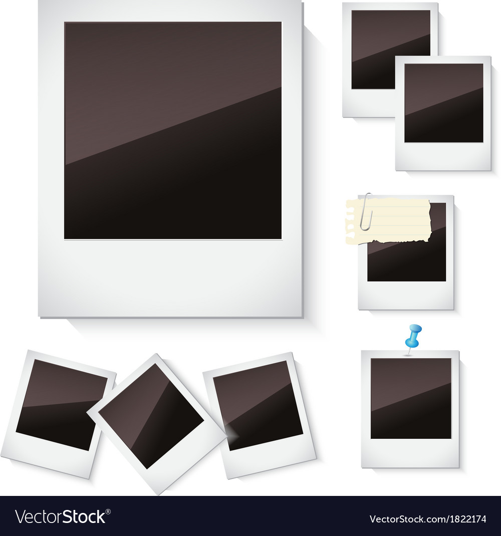 Photo frames isolated over white vector | Price: 1 Credit (USD $1)