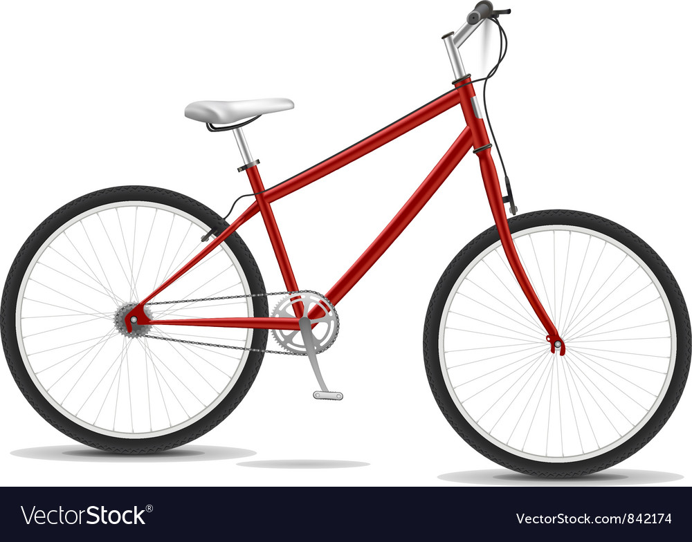Red bike vector | Price: 3 Credit (USD $3)