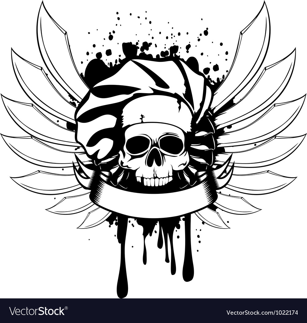 Skull of cook with knifes vector | Price: 1 Credit (USD $1)