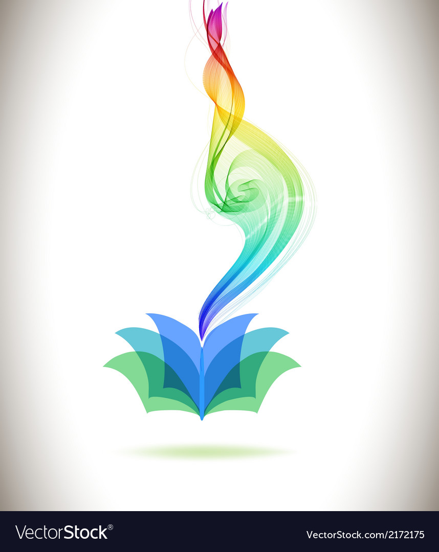 Abstract colorful background book icon and wave vector | Price: 1 Credit (USD $1)
