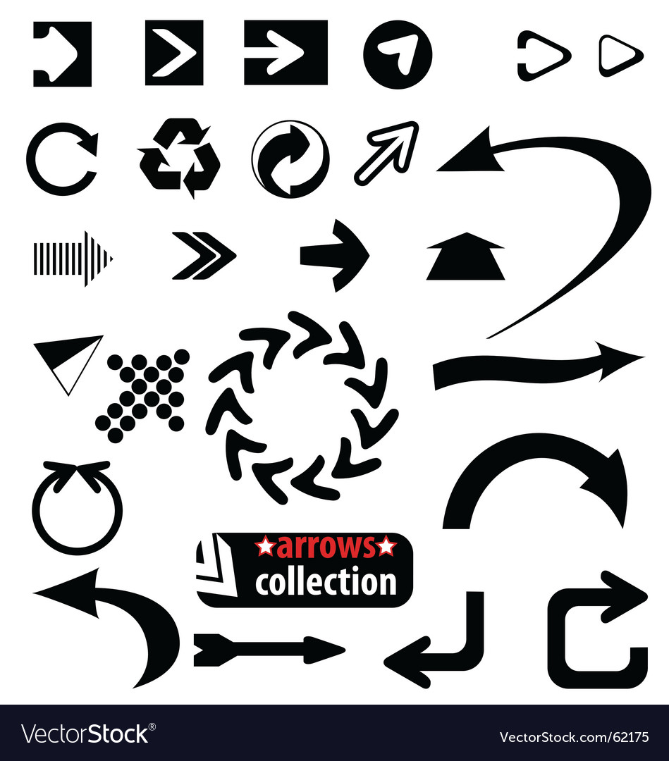 Arrows collection vector | Price:  Credit (USD $)