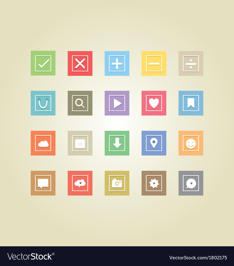 Basic web icons 2 vector | Price: 1 Credit (USD $1)