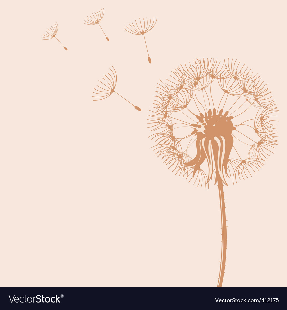 Blow dandelions vector | Price: 1 Credit (USD $1)