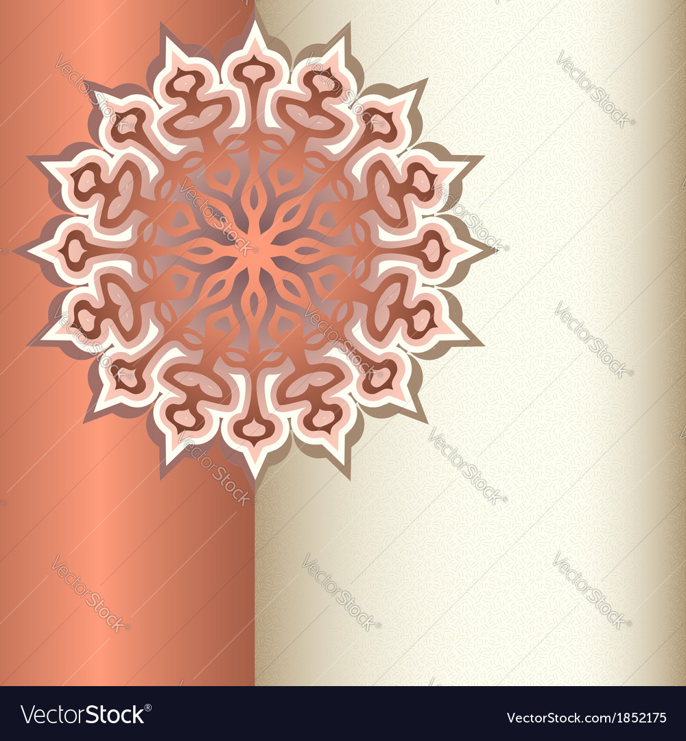 Decorative ornament with place for text vector   Price: 1 Credit (USD $1)