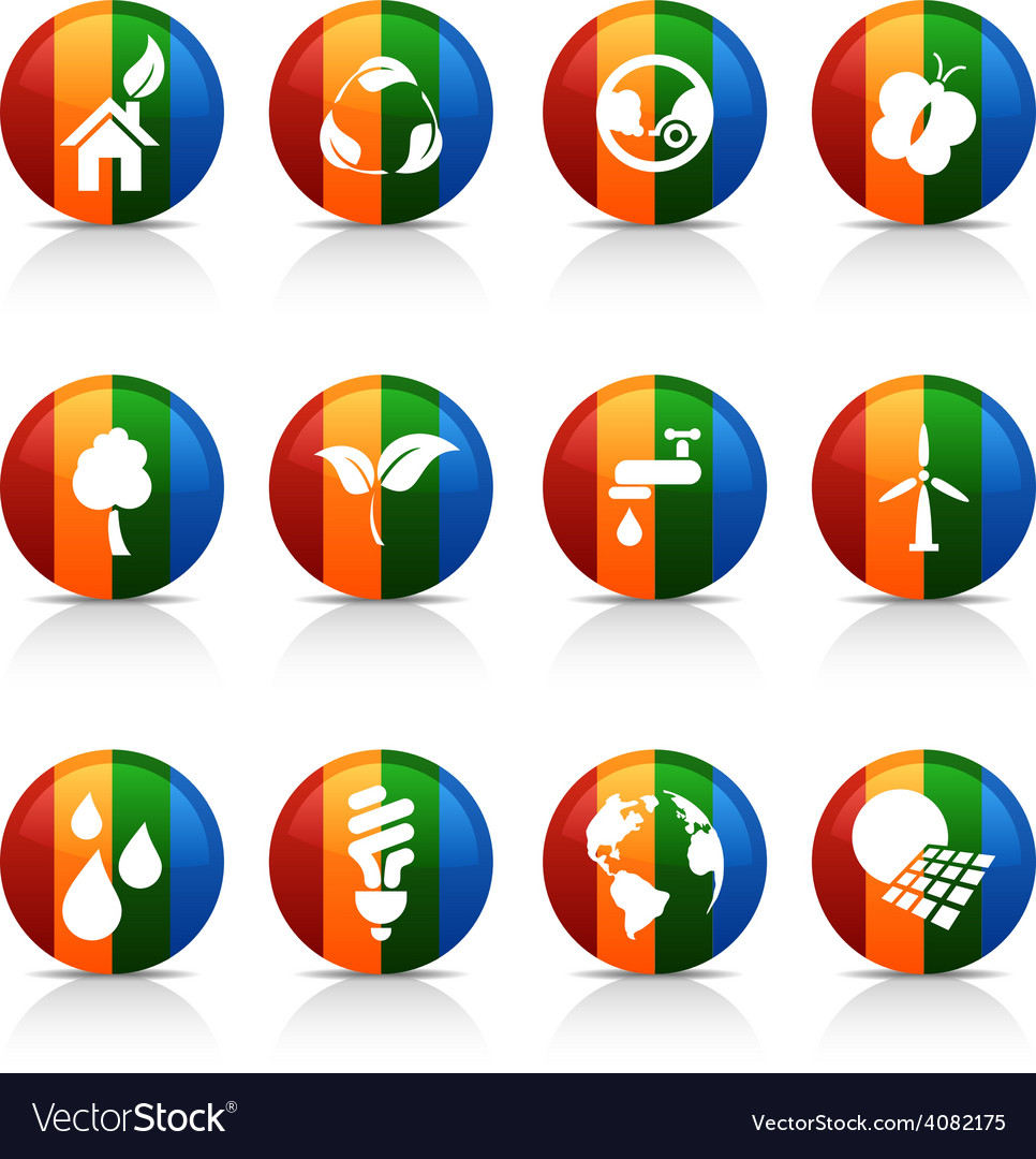Ecology buttons vector   Price: 1 Credit (USD $1)