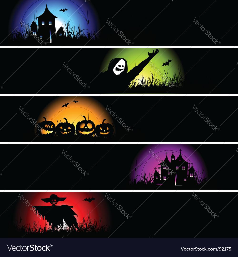 Halloween banners vector | Price: 1 Credit (USD $1)