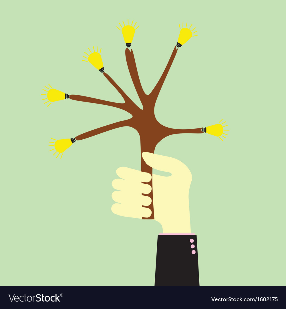 Handle tree idea vector | Price: 1 Credit (USD $1)