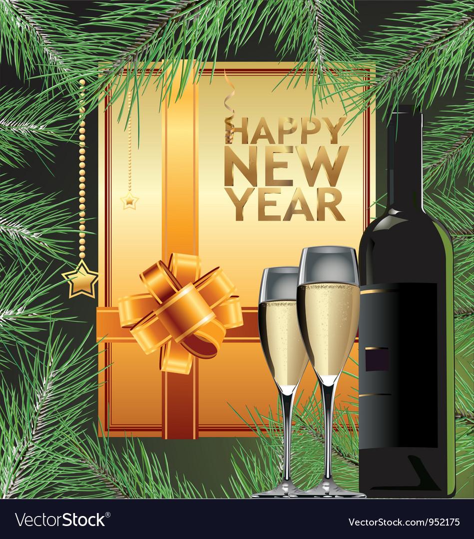 Happy new year elegant background vector | Price: 3 Credit (USD $3)