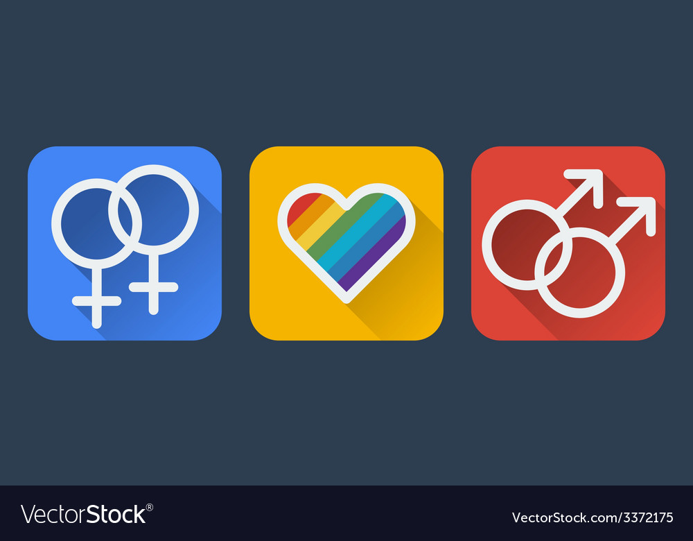 Love gay flat icon vector | Price: 1 Credit (USD $1)