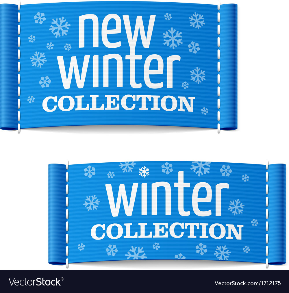 New winter collection clothing labels vector | Price: 1 Credit (USD $1)