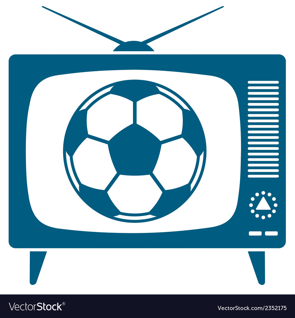 Soccerball in retro tv vector | Price: 1 Credit (USD $1)