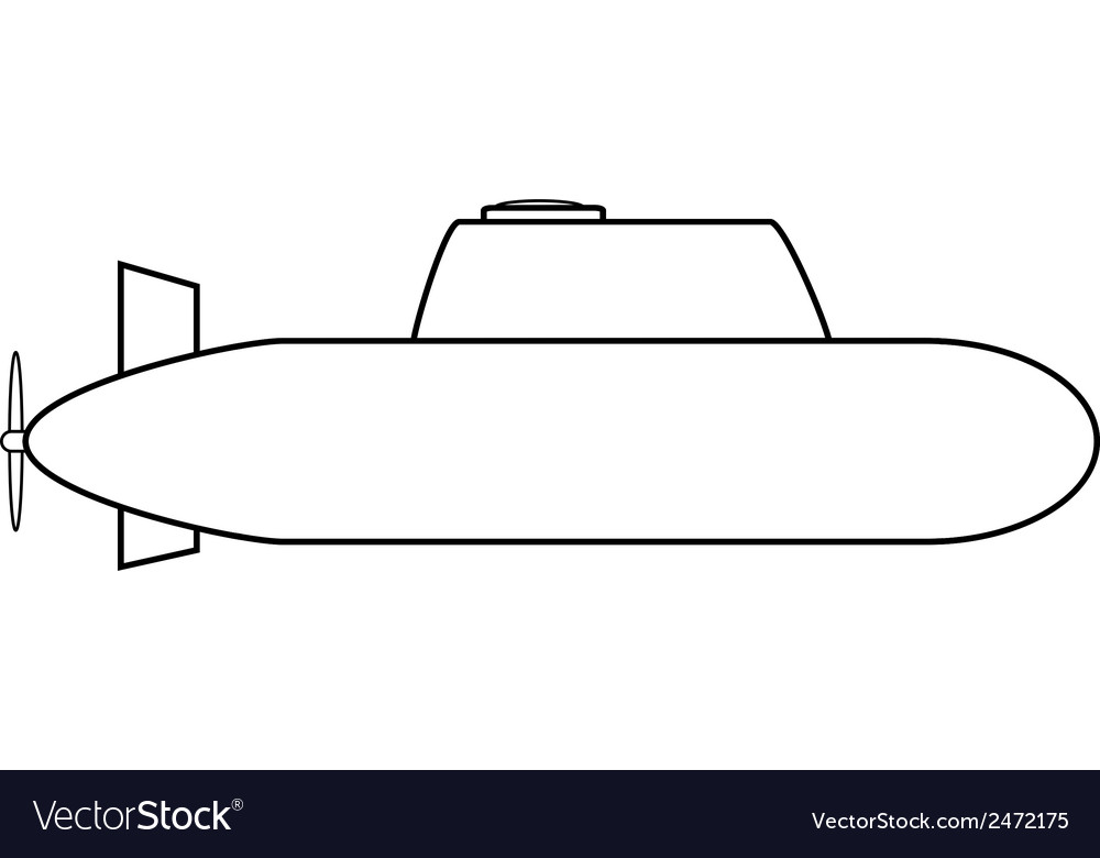Submarine icon vector | Price: 1 Credit (USD $1)