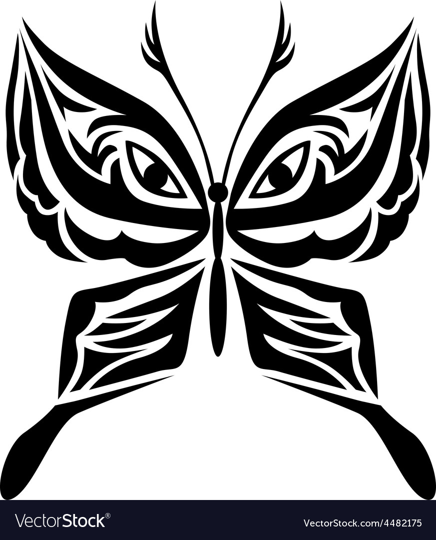Tatoo butterfly vector | Price: 1 Credit (USD $1)