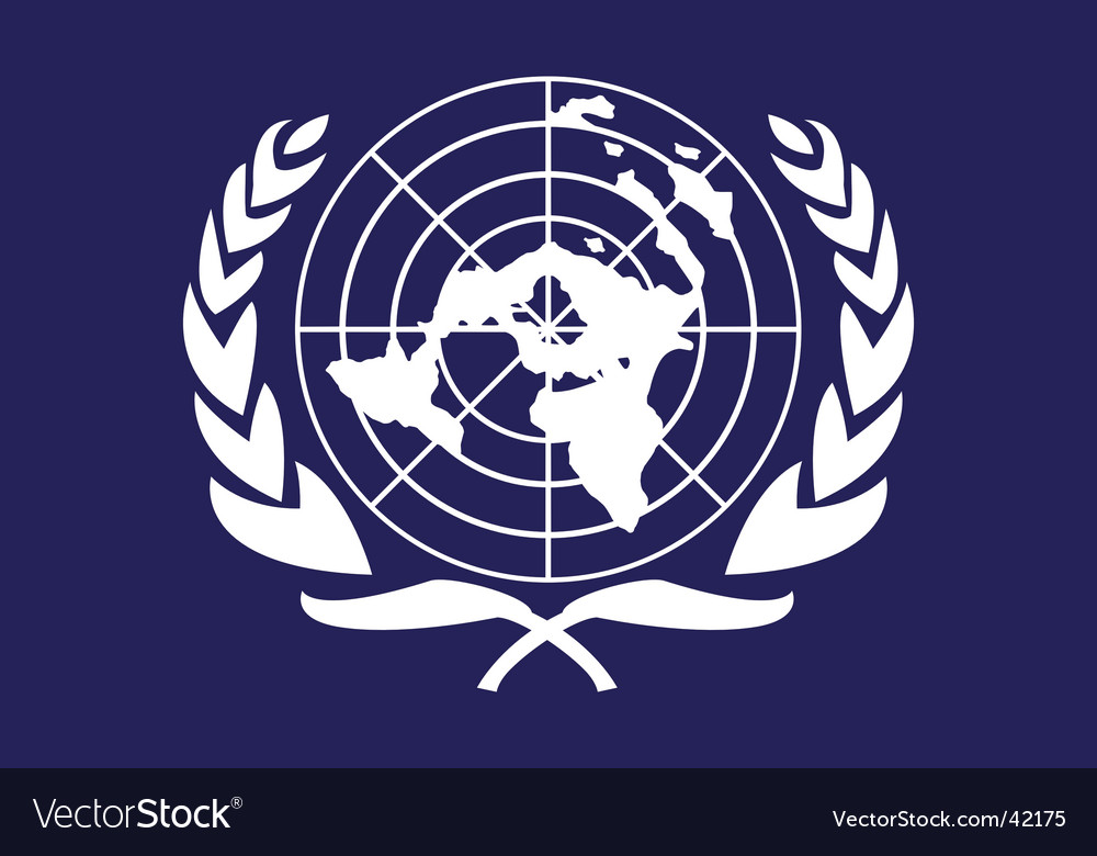 United nations flag vector | Price: 1 Credit (USD $1)