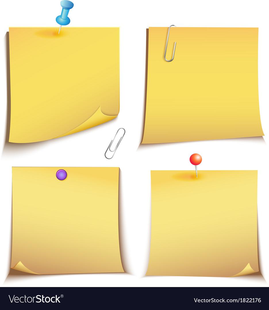 Adhesive memory notes set vector | Price: 1 Credit (USD $1)