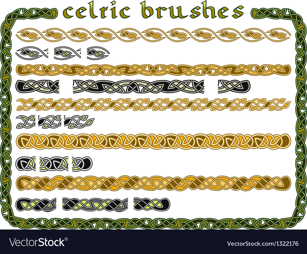 Celtic ornament in a seamless vector