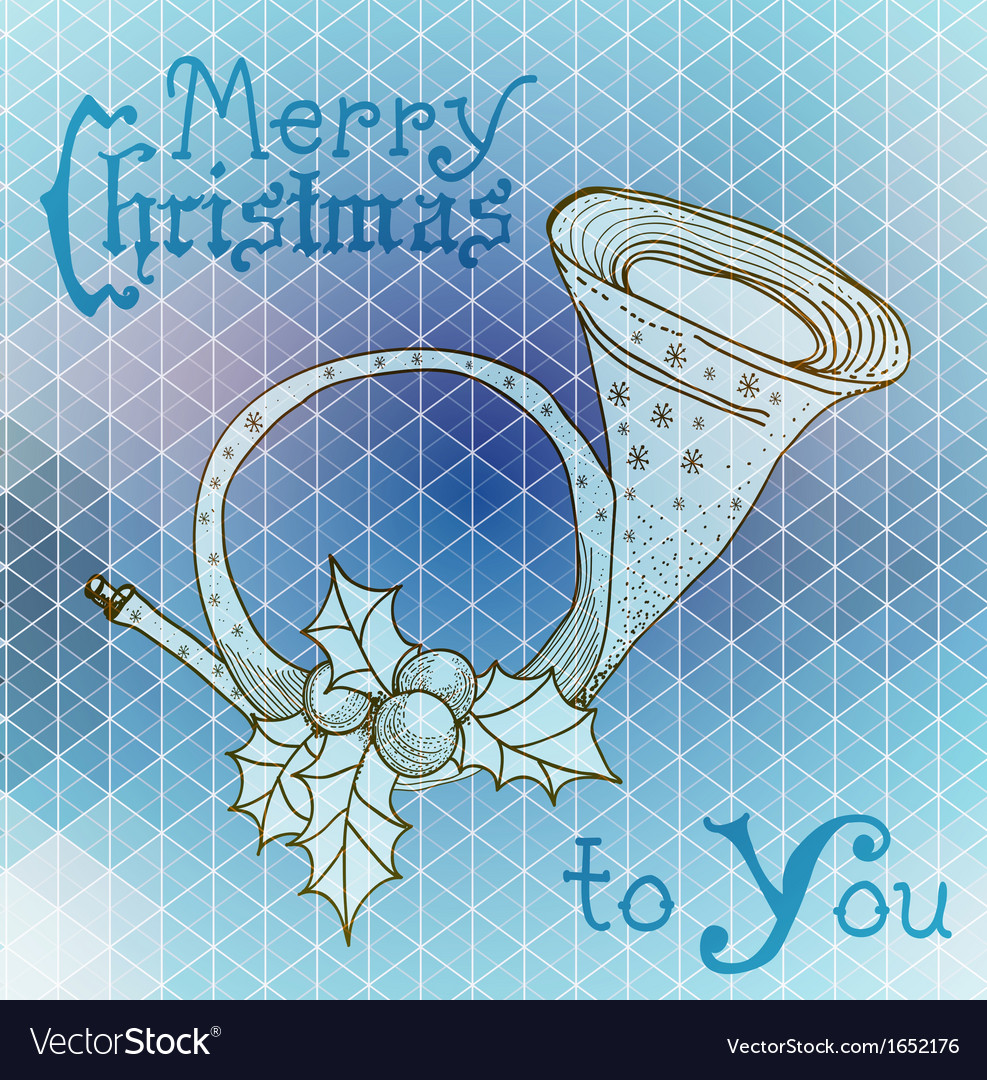 Christmas horn decoration vector | Price: 1 Credit (USD $1)