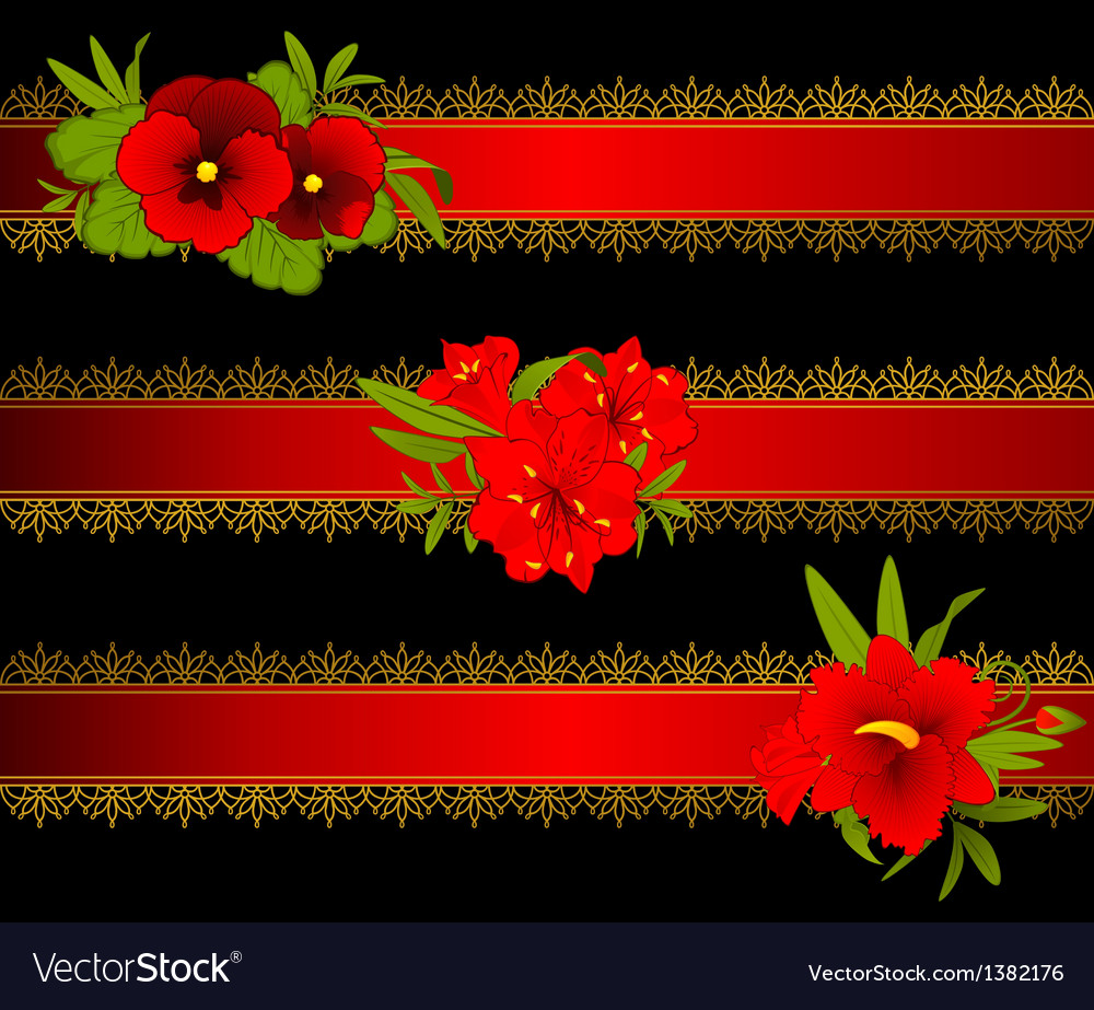Decorative headers vector | Price: 1 Credit (USD $1)