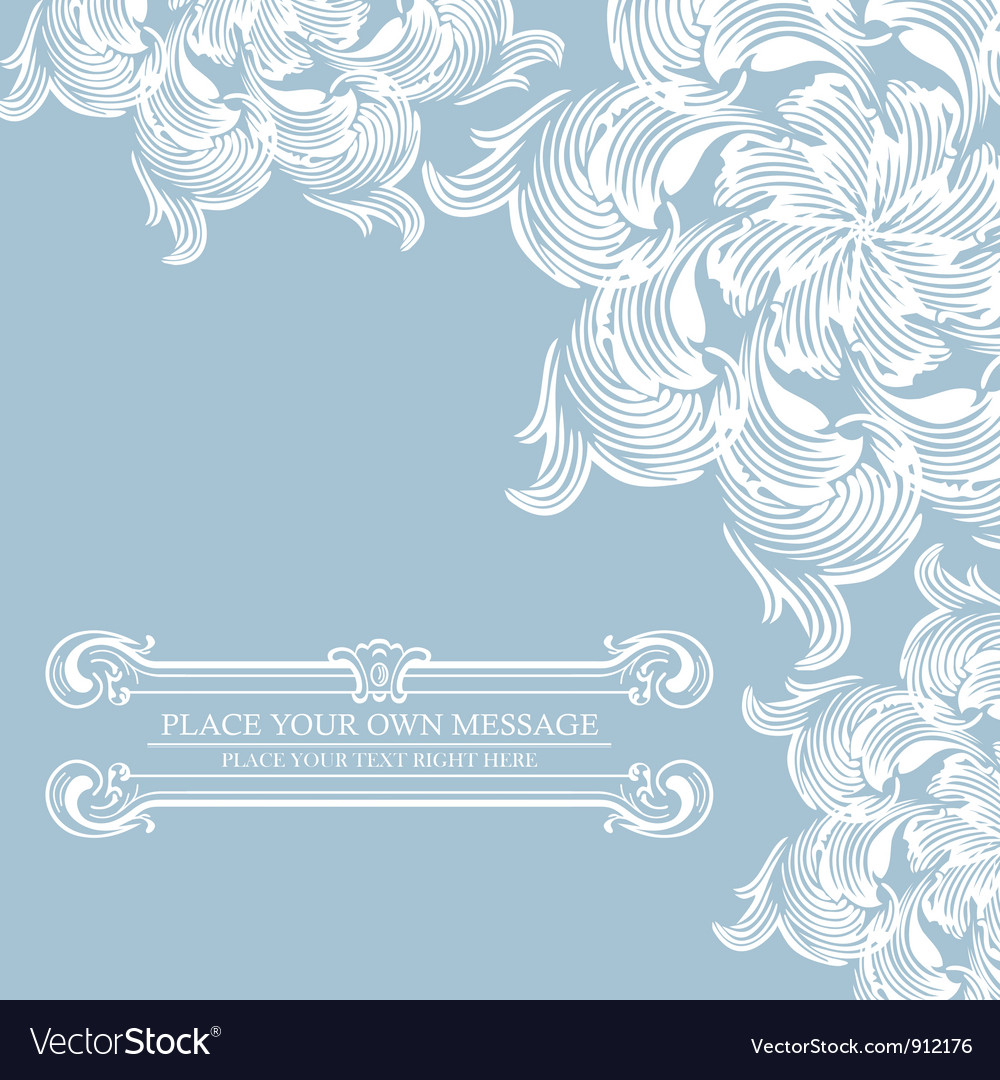 Elegance vintage card with place for text vector | Price: 1 Credit (USD $1)