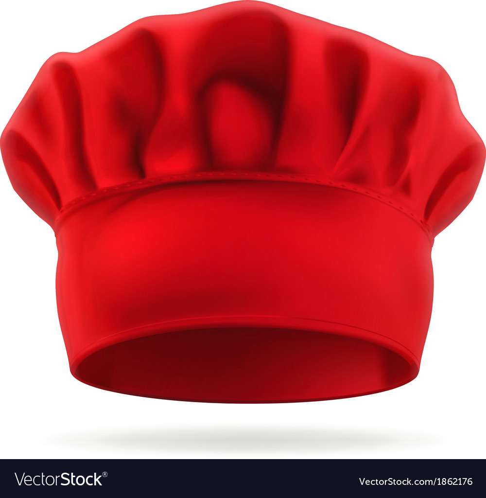 Red chef hat vector | Price: 3 Credit (USD $3)