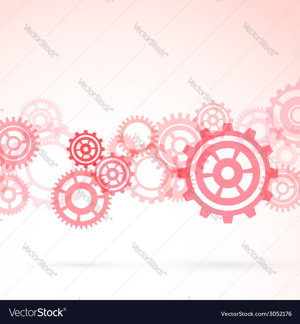 Red gear modeling background template vector | Price: 1 Credit (USD $1)