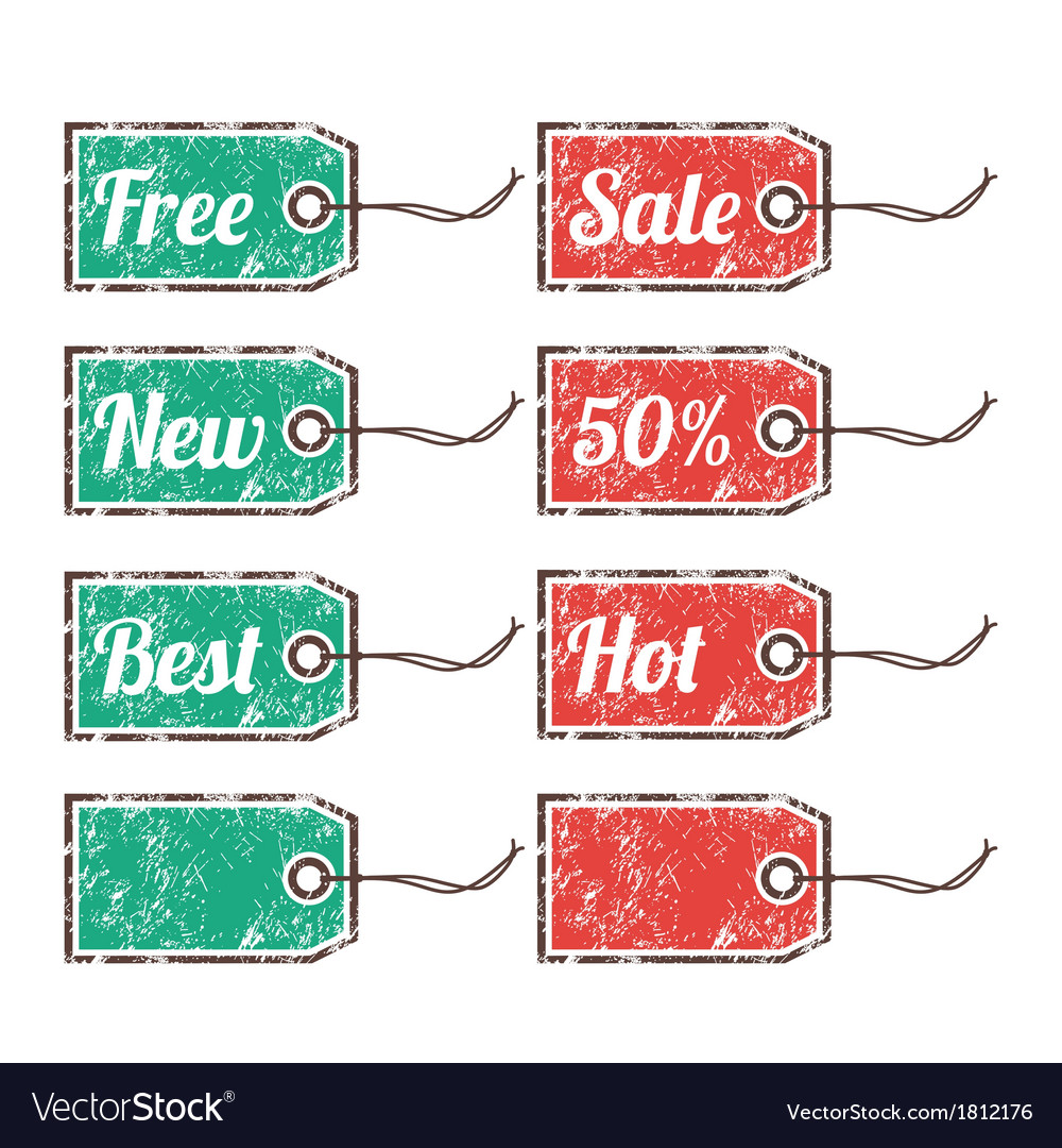 Retro price sags - sale 50 percen hot new best vector | Price: 1 Credit (USD $1)