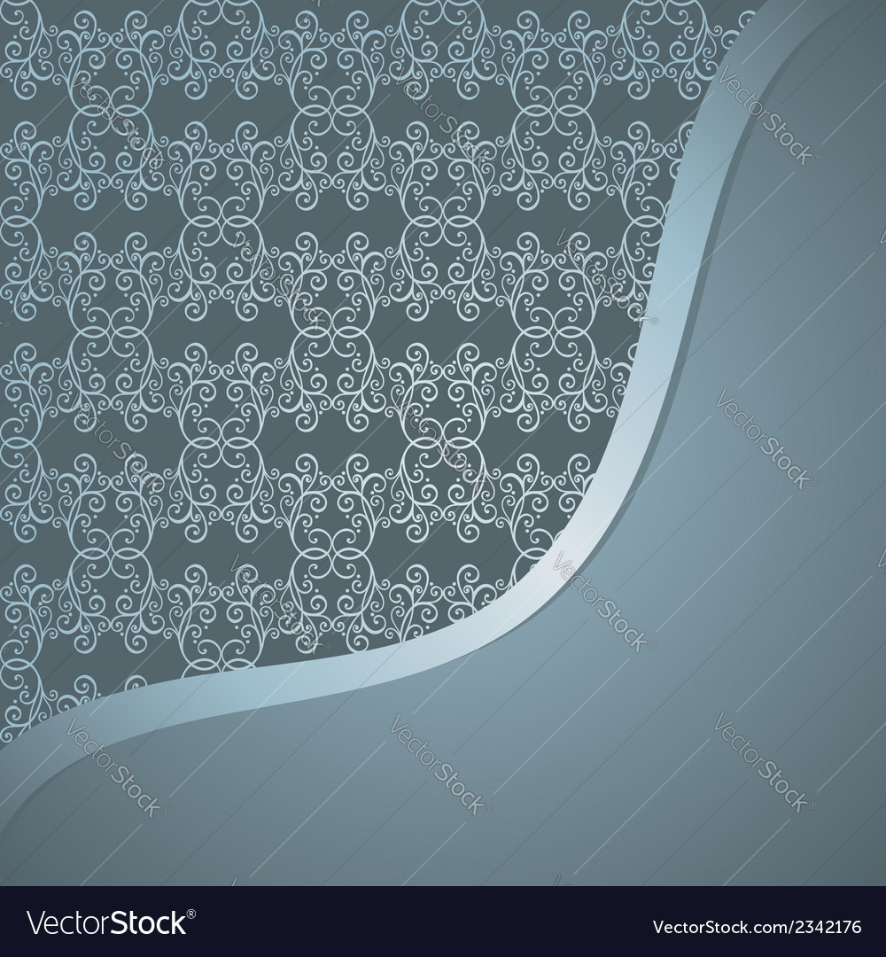 Template with ornamental pattern vector | Price: 1 Credit (USD $1)