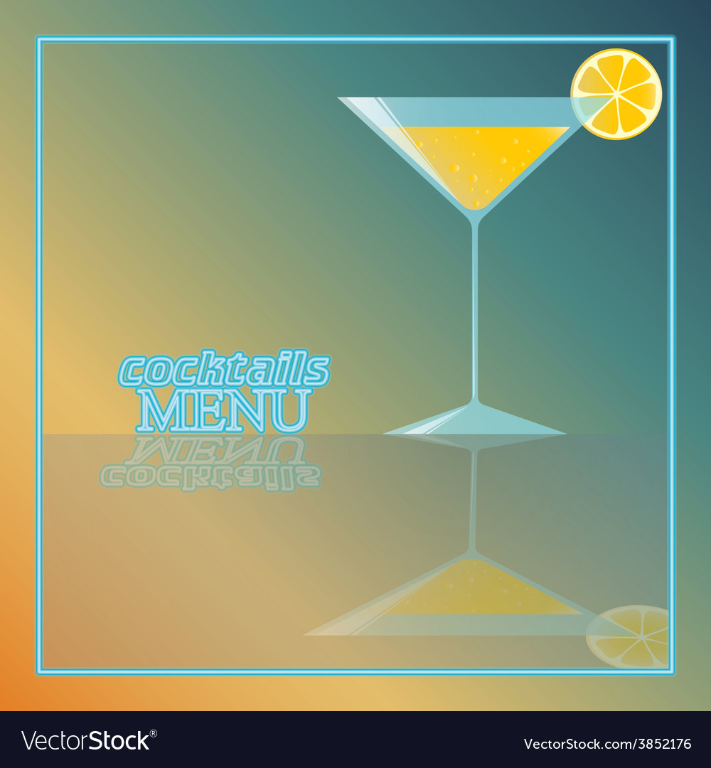 Tropical cocktail with orange and bubbles vector | Price: 1 Credit (USD $1)