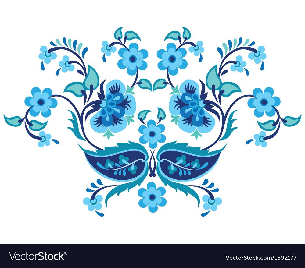 Blue oriental ottoman design twenty one vector   Price: 1 Credit (USD $1)