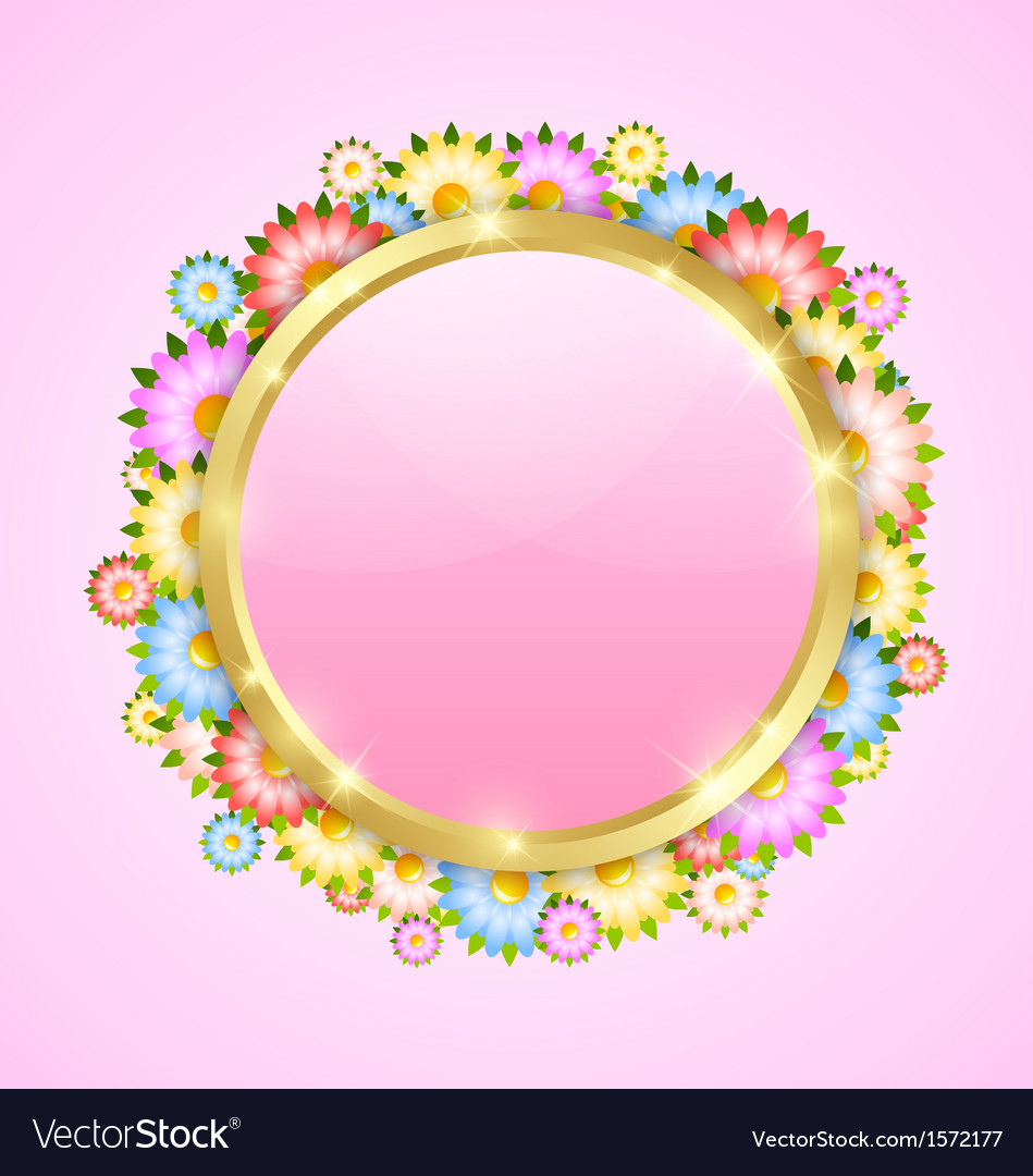 Flower bubble template vector | Price: 1 Credit (USD $1)