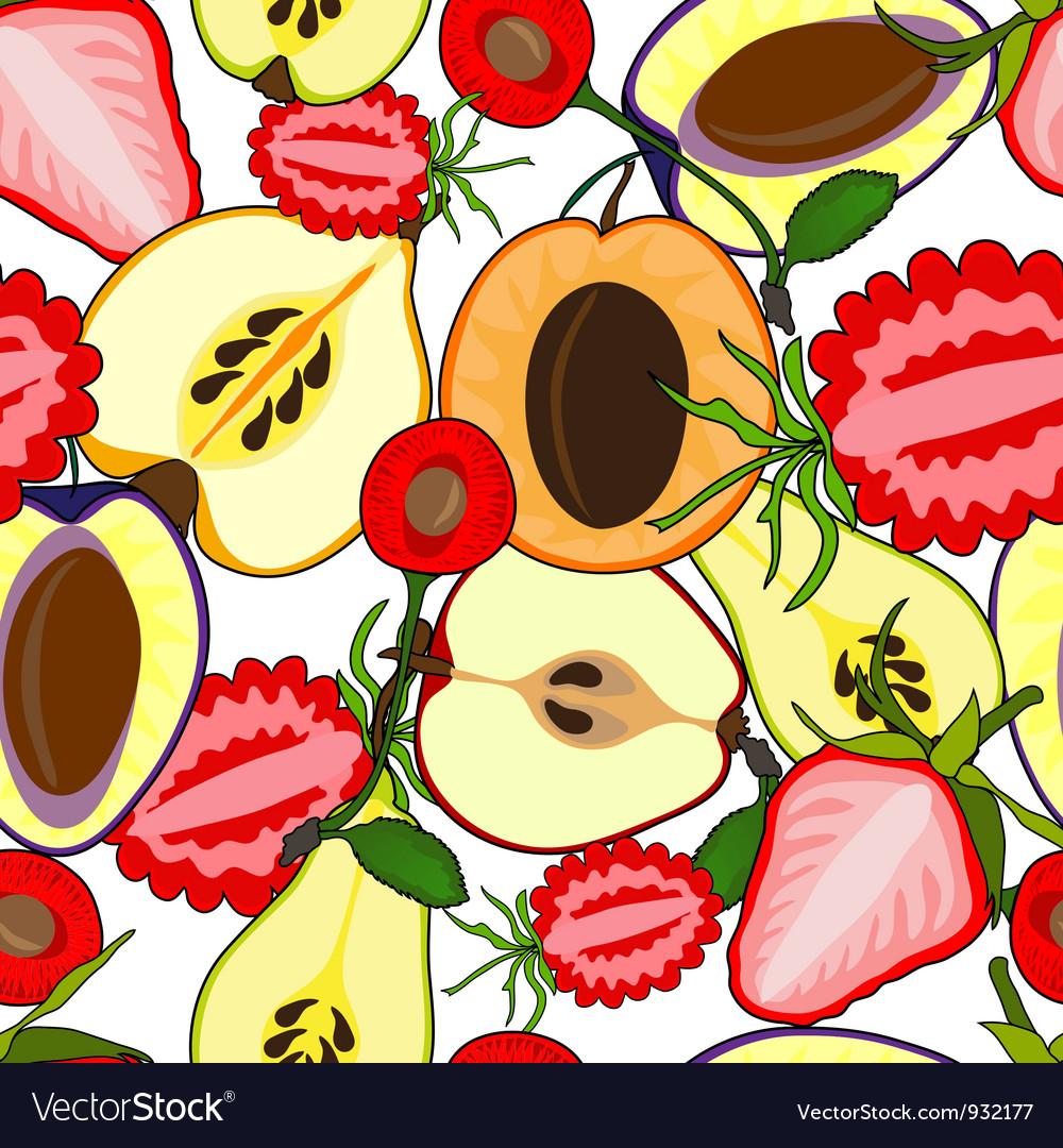 Fruit seamless vector | Price: 1 Credit (USD $1)