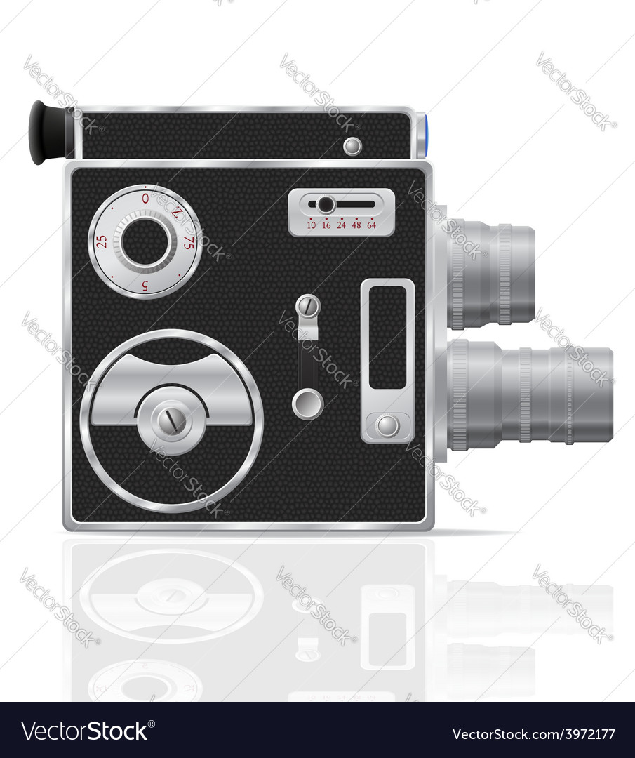 Old retro vintage movie video camera 03 vector | Price: 3 Credit (USD $3)