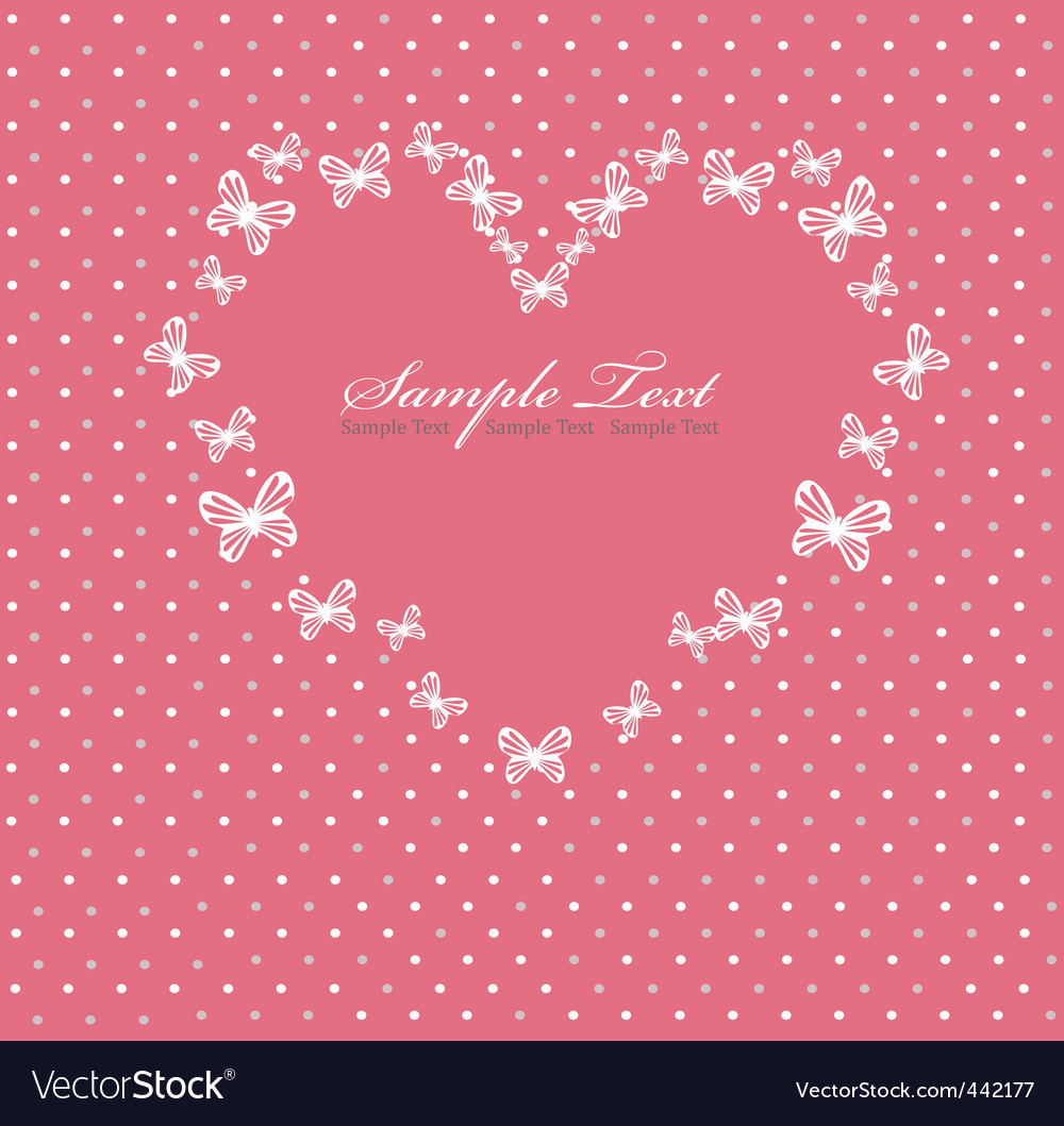 Pink valentines day card with vector | Price: 1 Credit (USD $1)