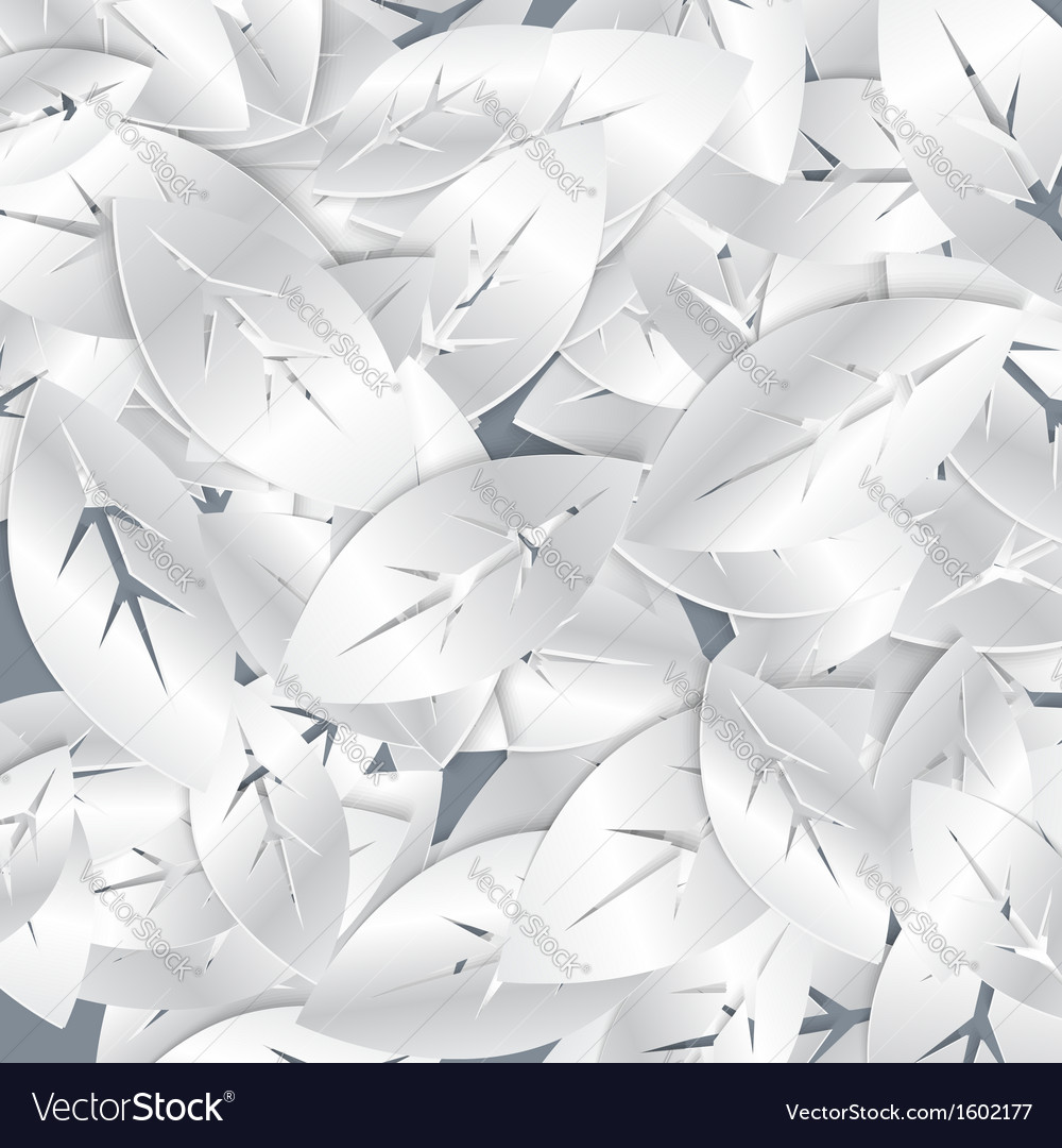 Silver white foliage abstract seamless pattern vector | Price: 1 Credit (USD $1)