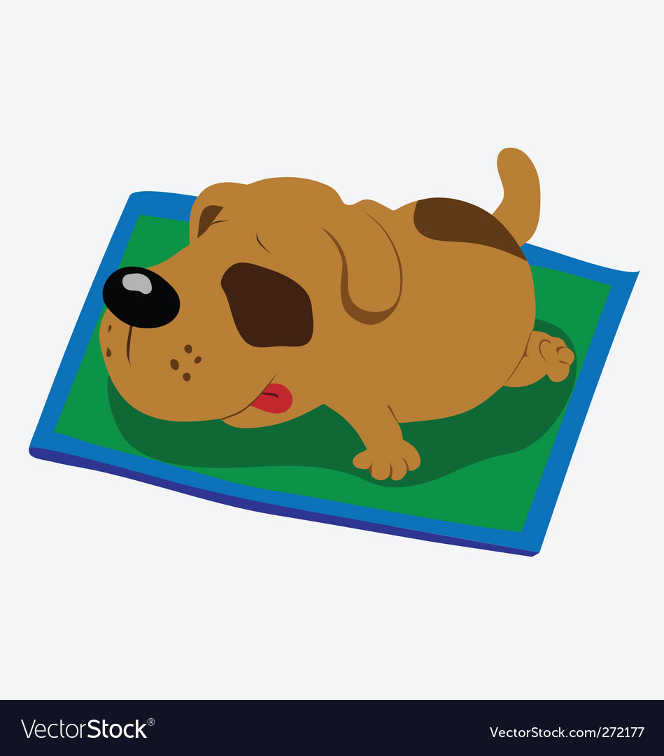 Sleeping dog vector | Price: 1 Credit (USD $1)