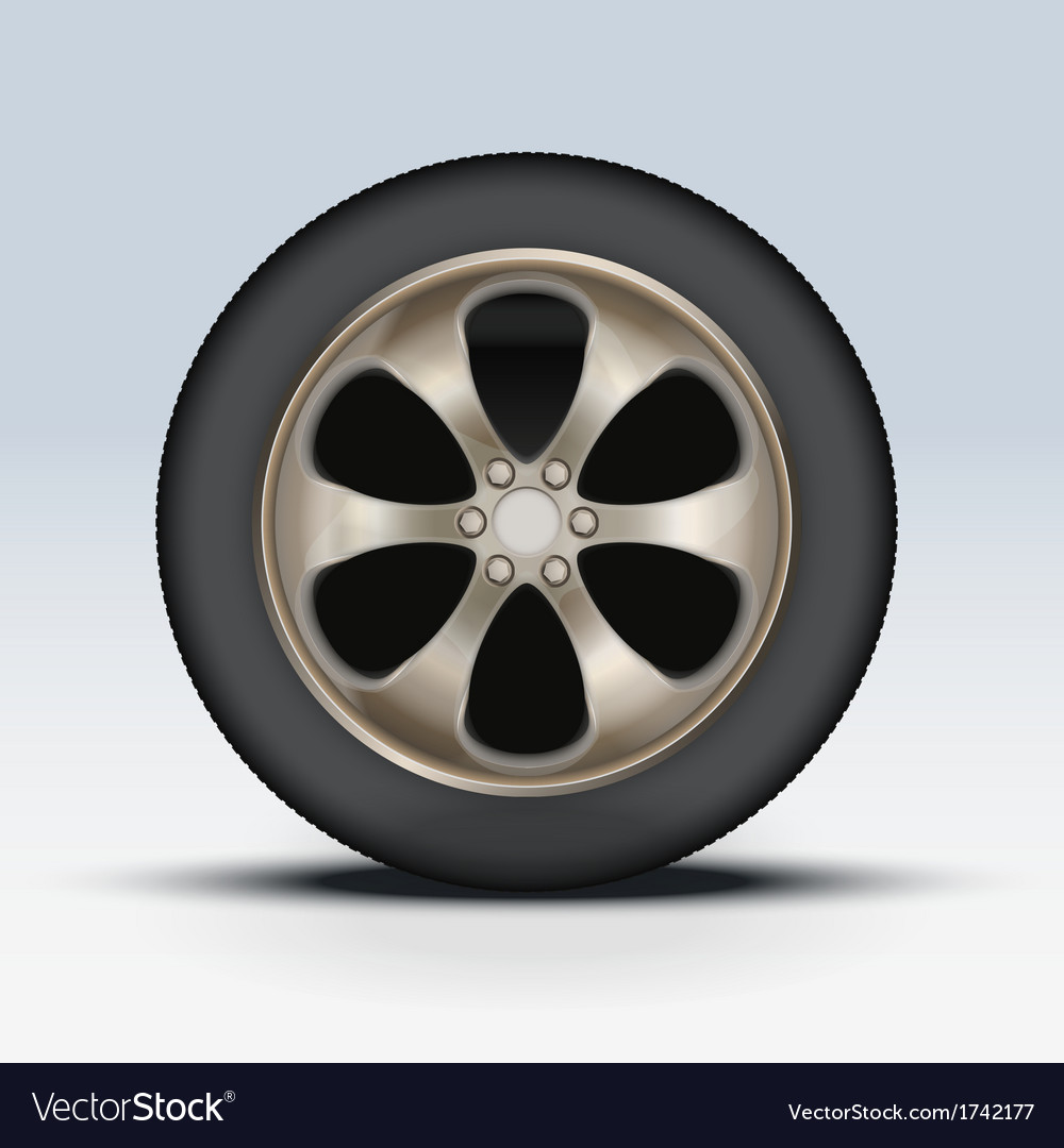 Wheel of car vector | Price: 1 Credit (USD $1)