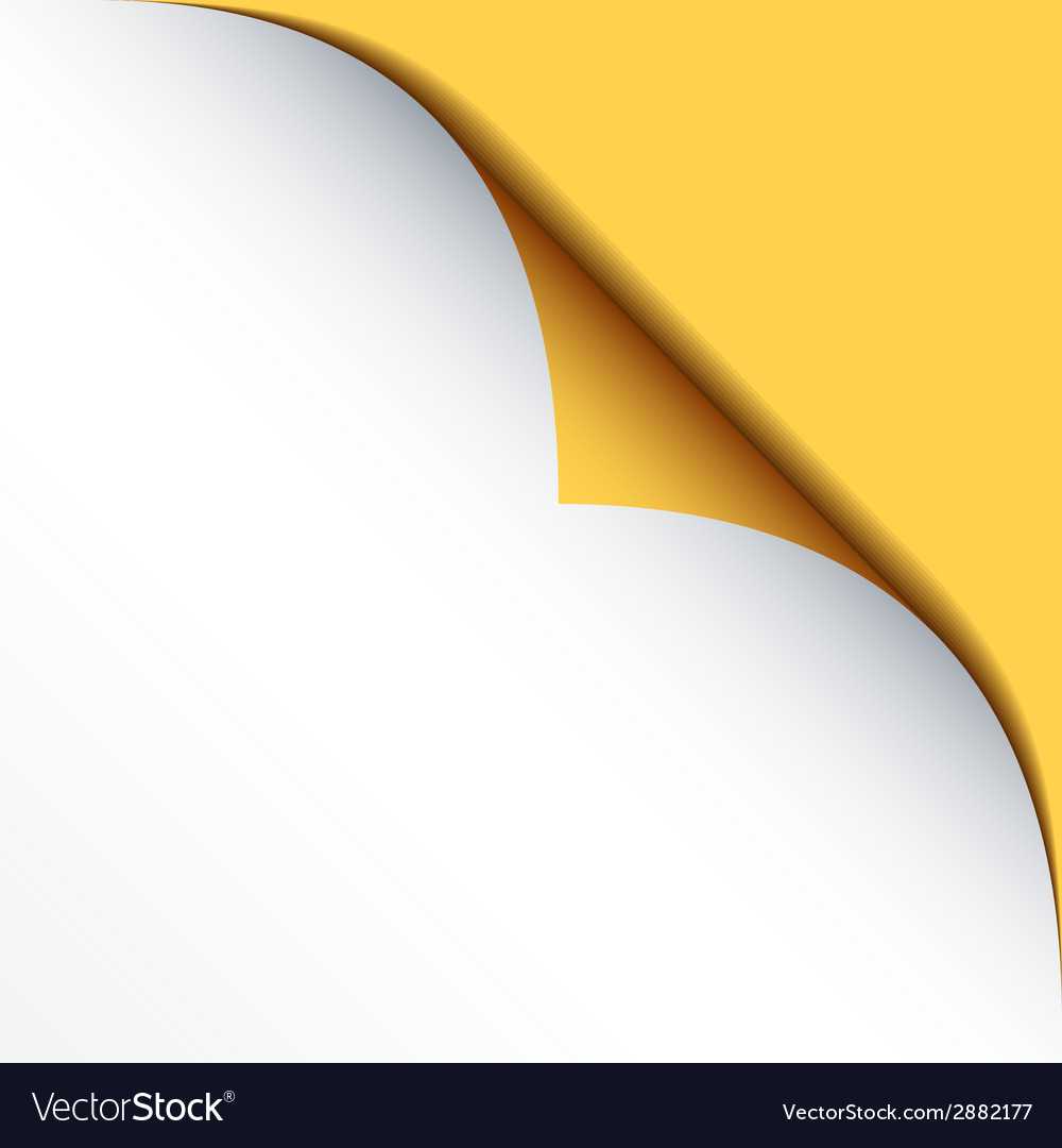 White bended paper with yellow background vector | Price: 1 Credit (USD $1)