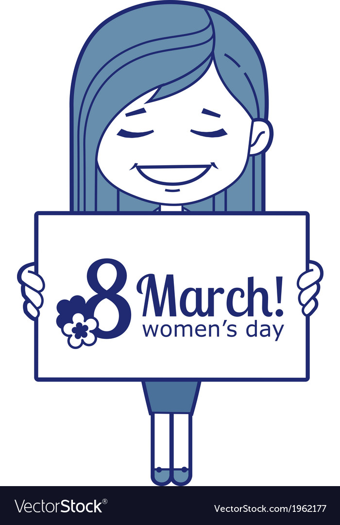 Woman congratulates march 8 vector | Price: 1 Credit (USD $1)