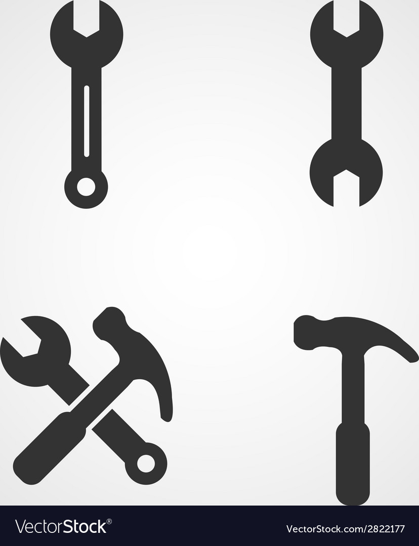 Wrench icons set flat design vector | Price: 1 Credit (USD $1)