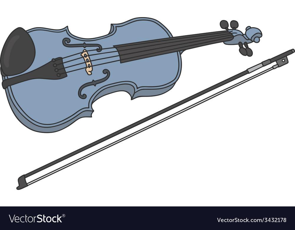 Blue violin vector | Price: 1 Credit (USD $1)