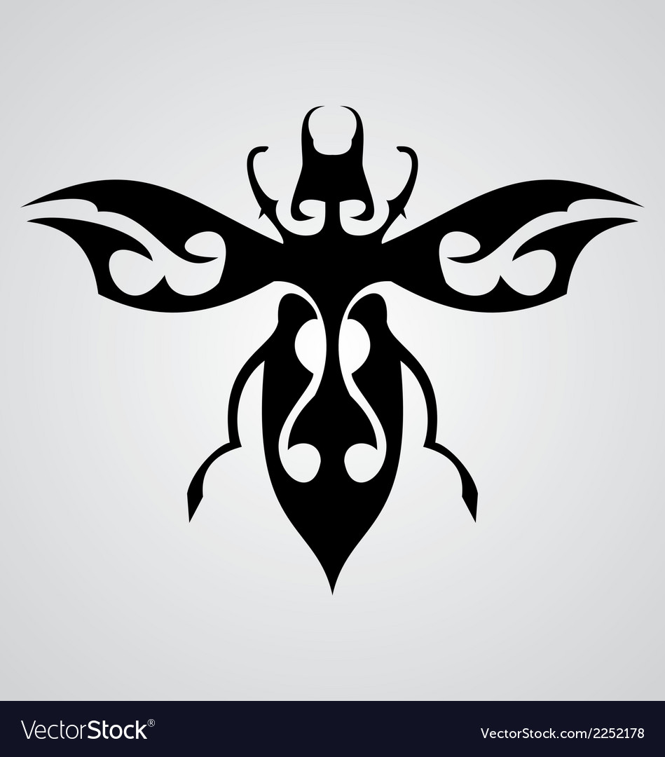 Bugs tattoo design vector | Price: 1 Credit (USD $1)