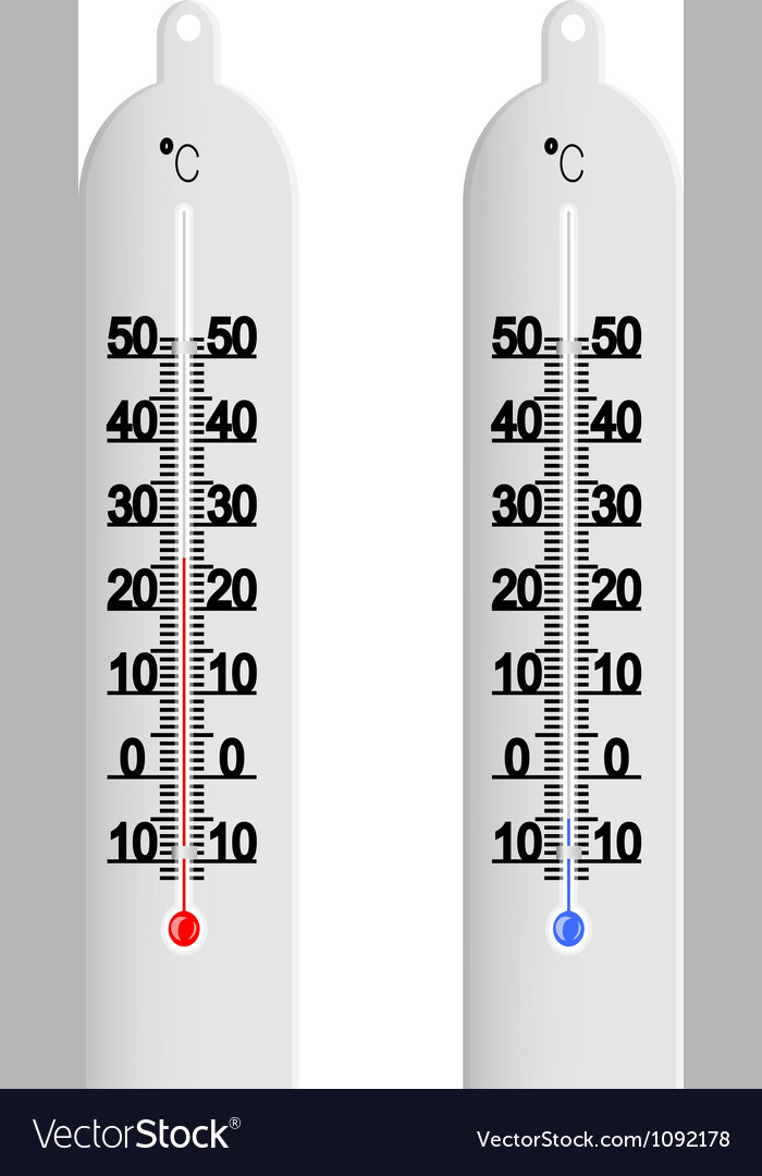 Centigrade thermometer vector | Price: 1 Credit (USD $1)