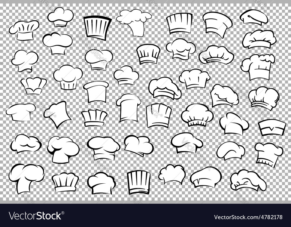 Chef toques and baker hats set vector   Price: 1 Credit (USD $1)
