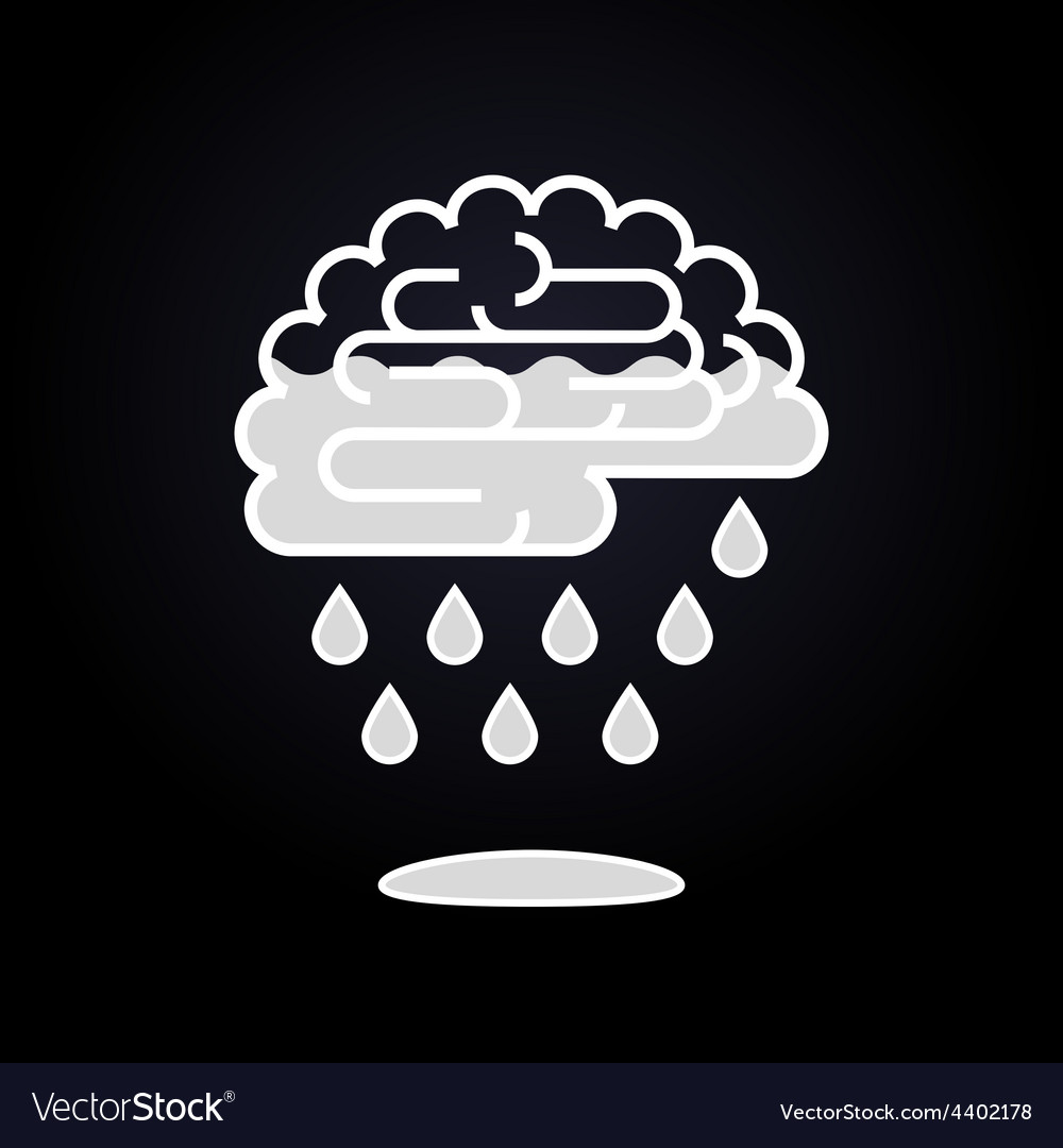 Drops falling from brain vector | Price: 1 Credit (USD $1)