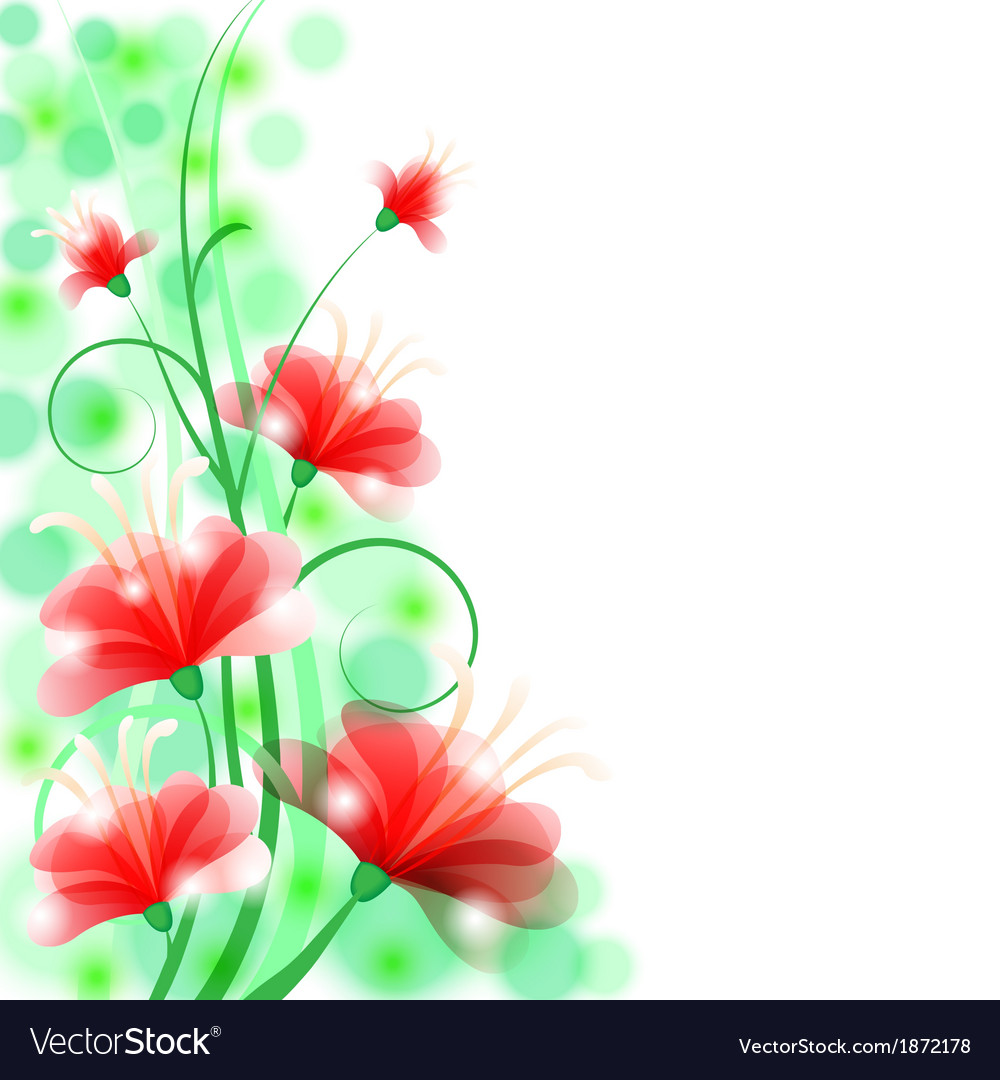 Flower beauty back vector | Price: 1 Credit (USD $1)