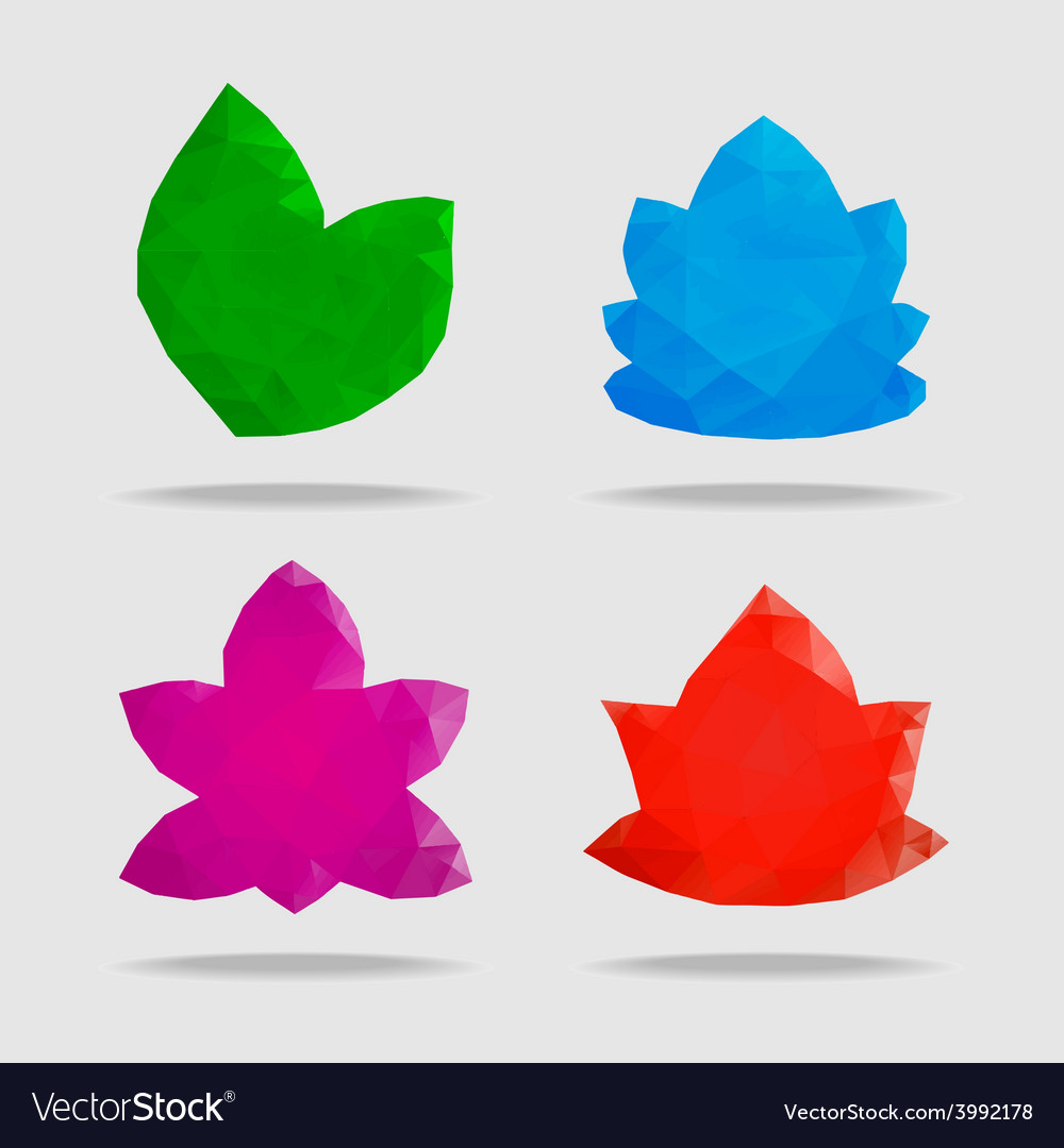 Flowers in a triangular style vector | Price: 1 Credit (USD $1)