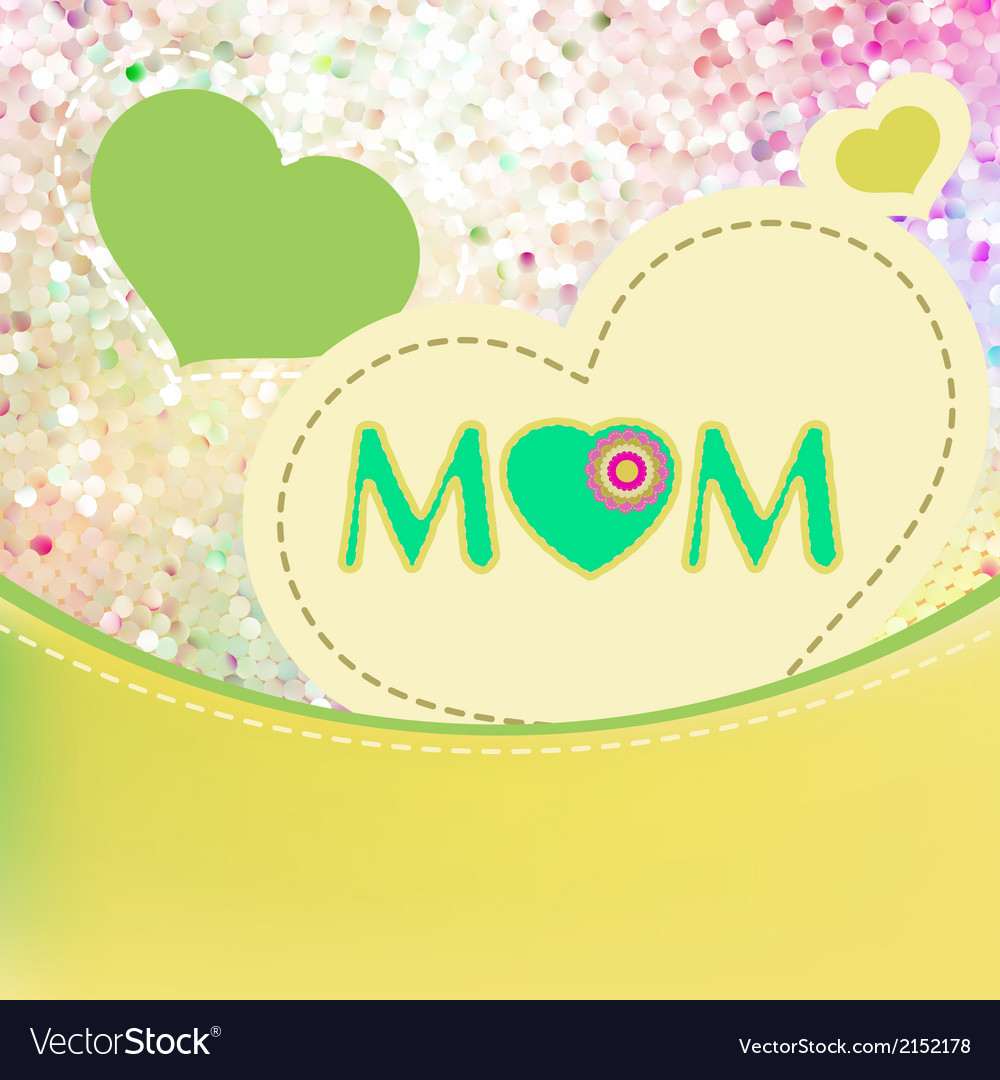 Happy mothers day eps 10 vector | Price: 1 Credit (USD $1)